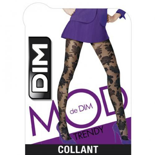 Collant Floral Noir