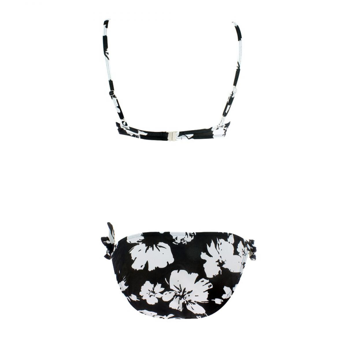 maillot 2 pi ces coqu flowers noir par dim maillot de bain. Black Bedroom Furniture Sets. Home Design Ideas
