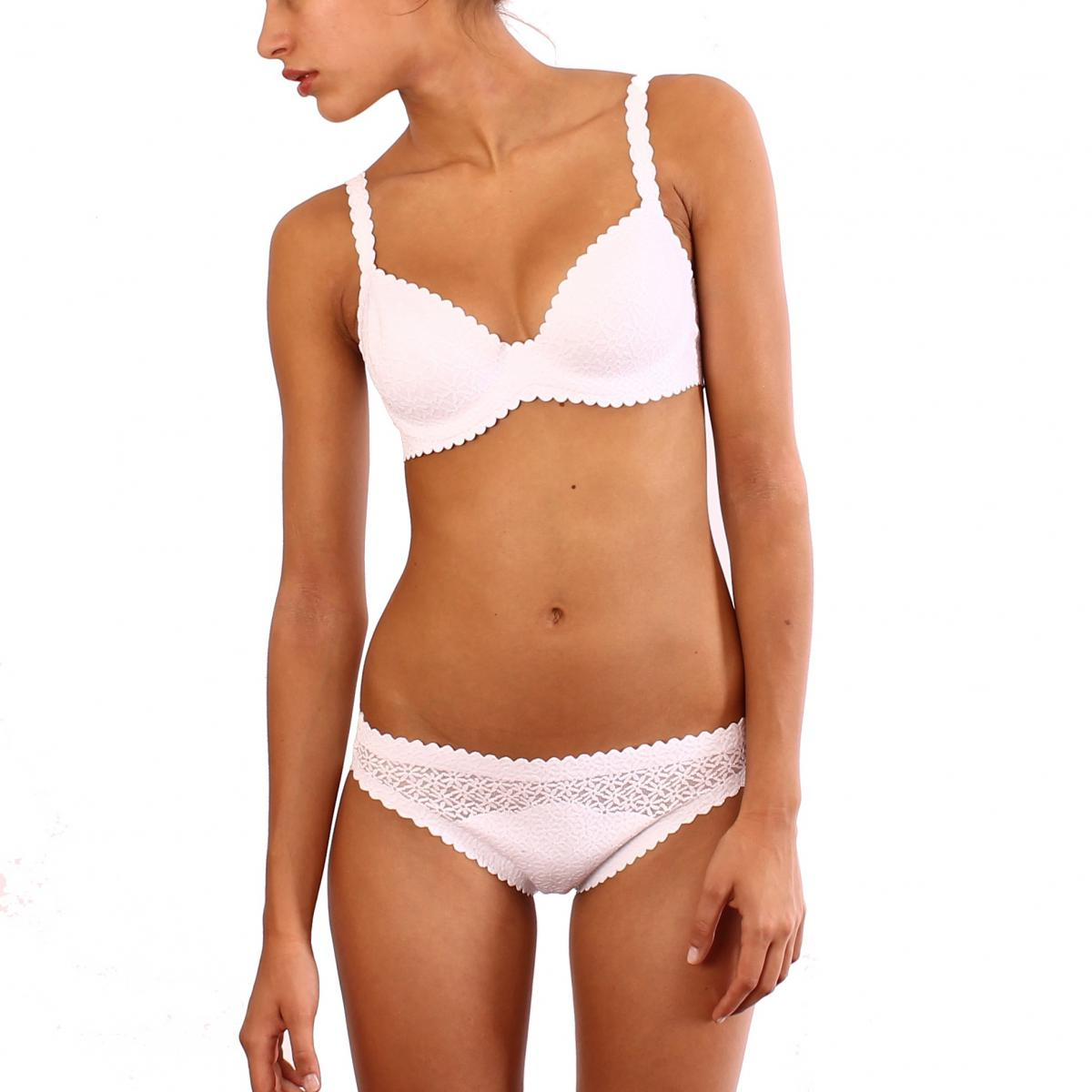Slip Body touch dentelle blanc par Dim - Lemon Curve 3fb82371cf6
