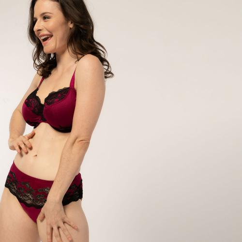 Soutien-gorge emboitant armatures fuchsia Brooklyn