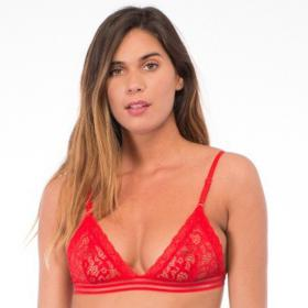 Soutien-gorge triangle rouge Iconic - Soutien-gorge triangles - Lingerie Iconic