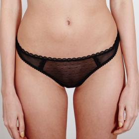 Tanga Noir Iconic - Strings et tangas - Culottes, strings et tangas