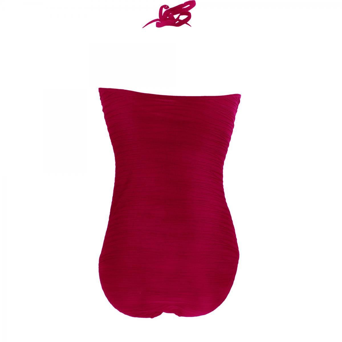 maillot de bain une pi ce bustier rouge par kalais. Black Bedroom Furniture Sets. Home Design Ideas