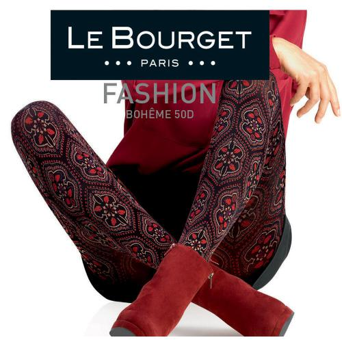 Le Bourget Collant Bohême 55D Noir-Rouge