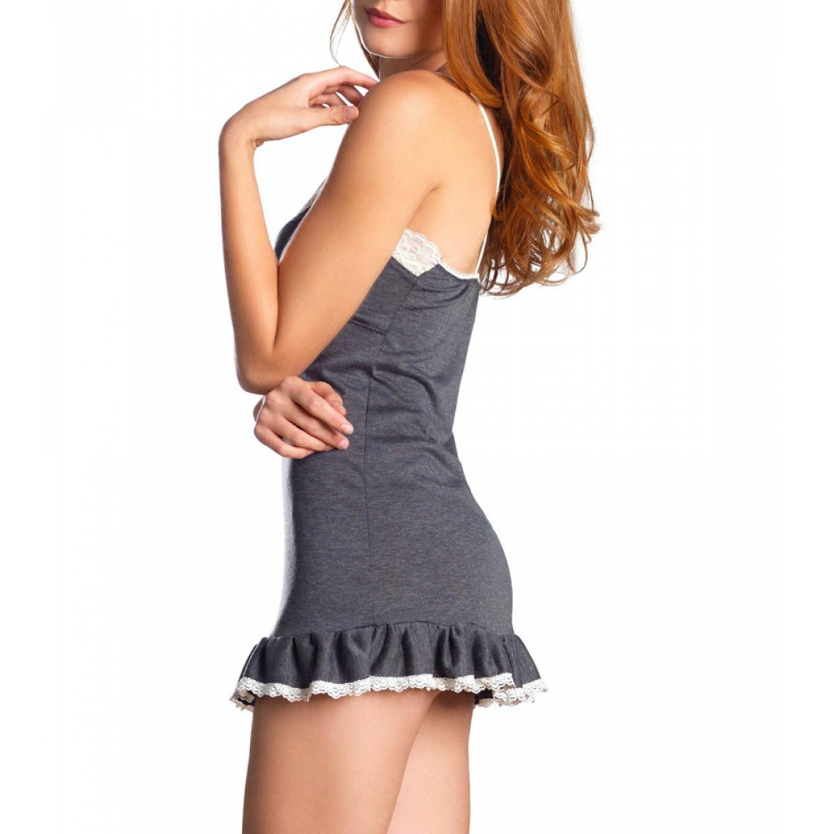 Nuisette en dentelle et jersey gris Sleepwear by Leg Avenue - Lemon ... 00ced45266e