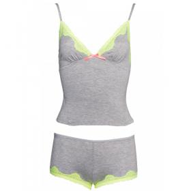 Top et shirt gris Sleepwear by Leg Avenue - Bas et Shorty - Shorties et bas pour la nuit