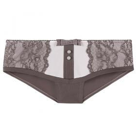 Shorty Ivoire-Marron Lemon Boudoir - Shorty et boxers - Shorties et boxers