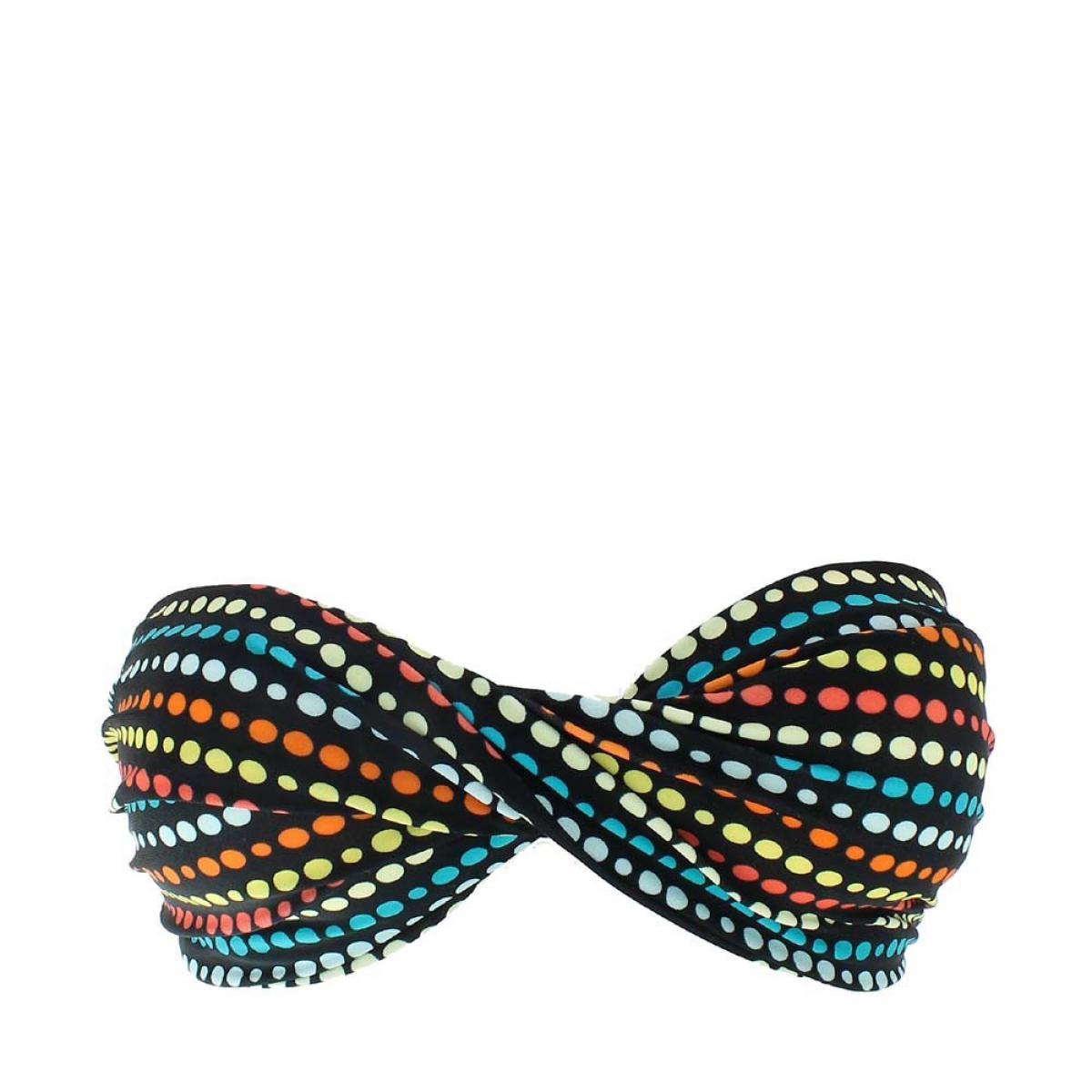 soutien gorge bowun noir pois multicolore par little marcel. Black Bedroom Furniture Sets. Home Design Ideas
