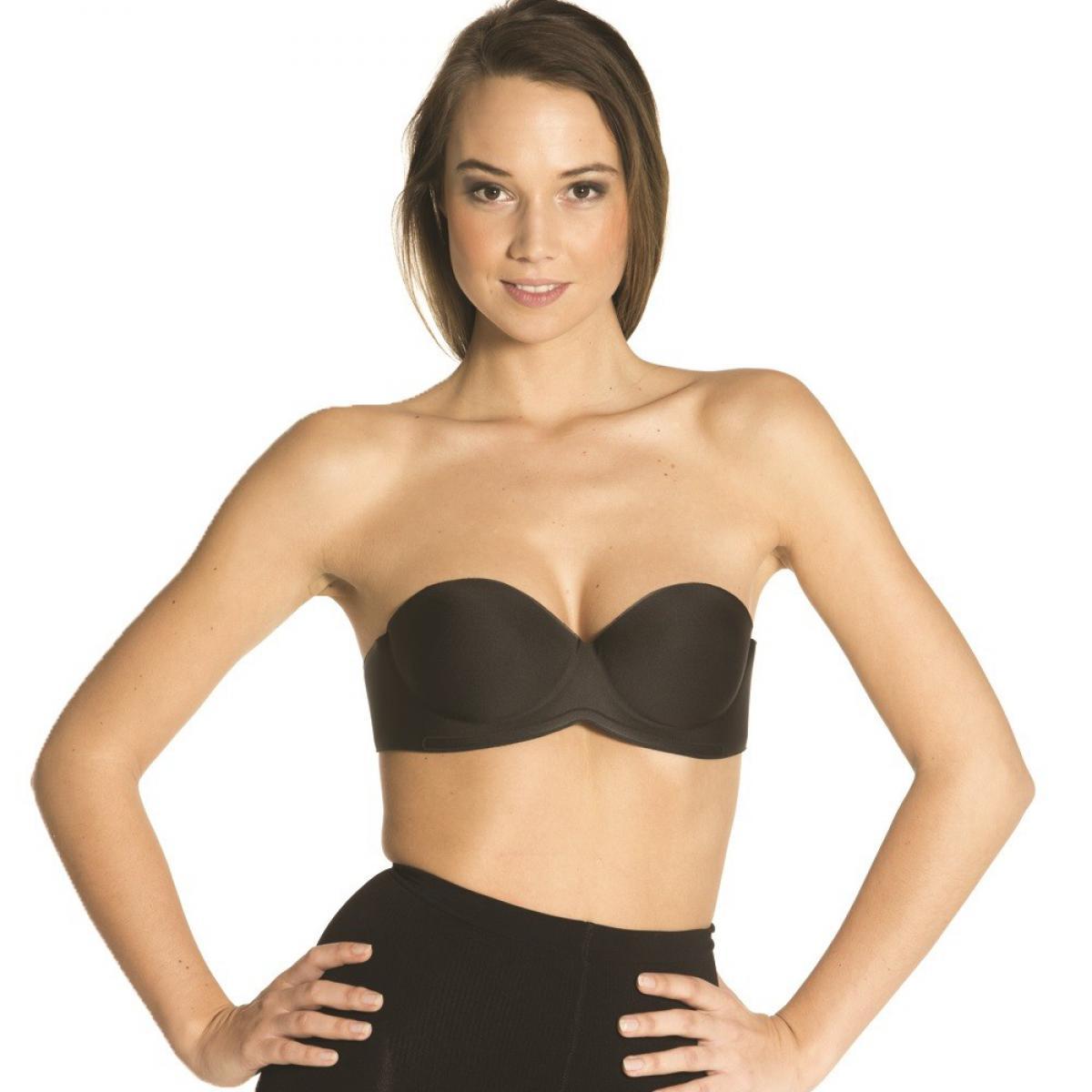 Soutien-gorge bandeau sans dos 0 noir par Magic body fashion 005c576e670