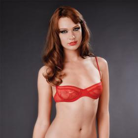 Soutien-Gorge Balconnet Rouge Maison Close - Corbeilles et balconnets - Lingerie Maison Close