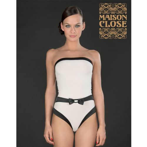 Maison Close Body Bustier Culotte Blanc