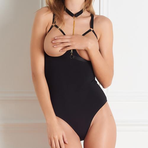 Maison Close Body seins nus noir
