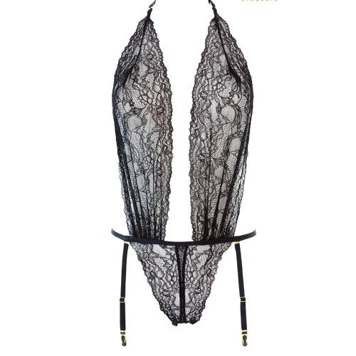 Body string ouvrable noir Le Petit Secret