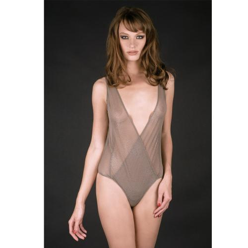 Maison Close Body-String Gris-Marron