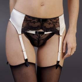 Porte-Jarretelles Noir-Ivoire Maison Close - Porte-jarretelles - Lingerie Maison Close