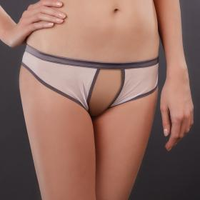 Shorty Ouvert Gris Maison Close - Shorty et boxers - Lingerie Maison Close