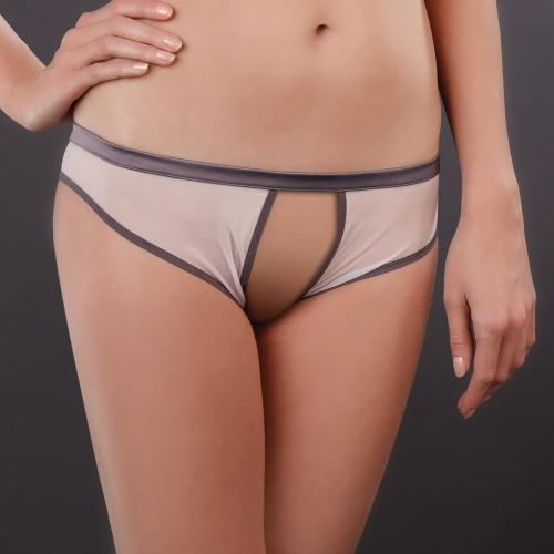 Shorty Ouvert Gris Maison Close