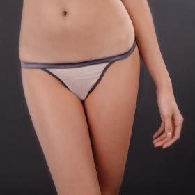 String Ouvrable Gris Maison Close - Strings et tangas - Lingerie Maison Close