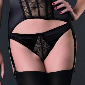 String Noir Maison Close - Strings et tangas - Lingerie Satin et Soie
