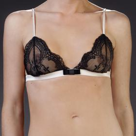 Soutien-Gorge Triangle Sans Armatures Noir Maison Close - Soutien-gorge triangles - Soutiens-gorge triangles
