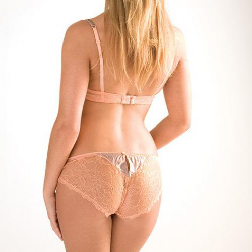 Culotte Dentelle Orange-Rose