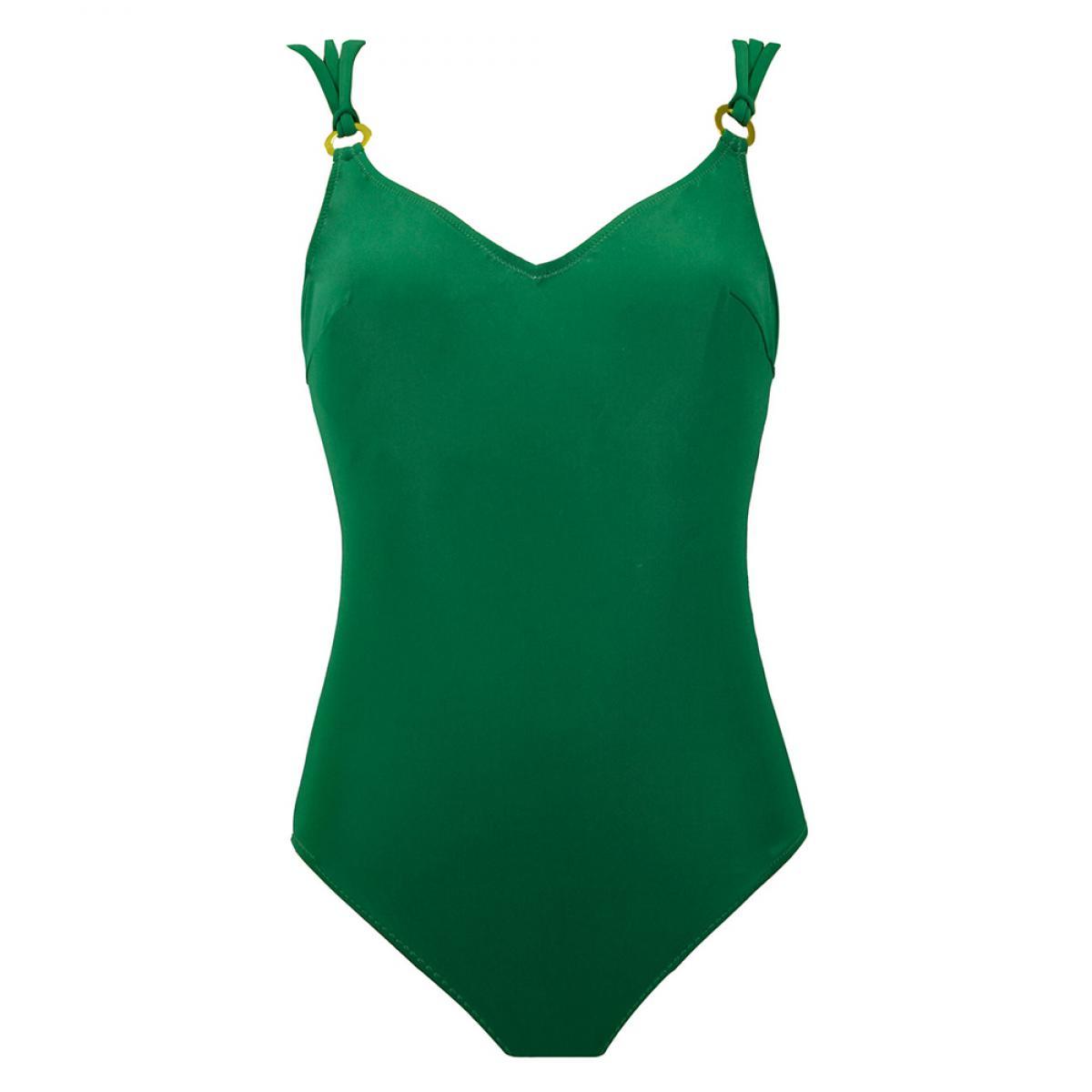 b41cd2fd43 Maillot de bain une pièce lissant vert Miradonna by Miraclesuit ...