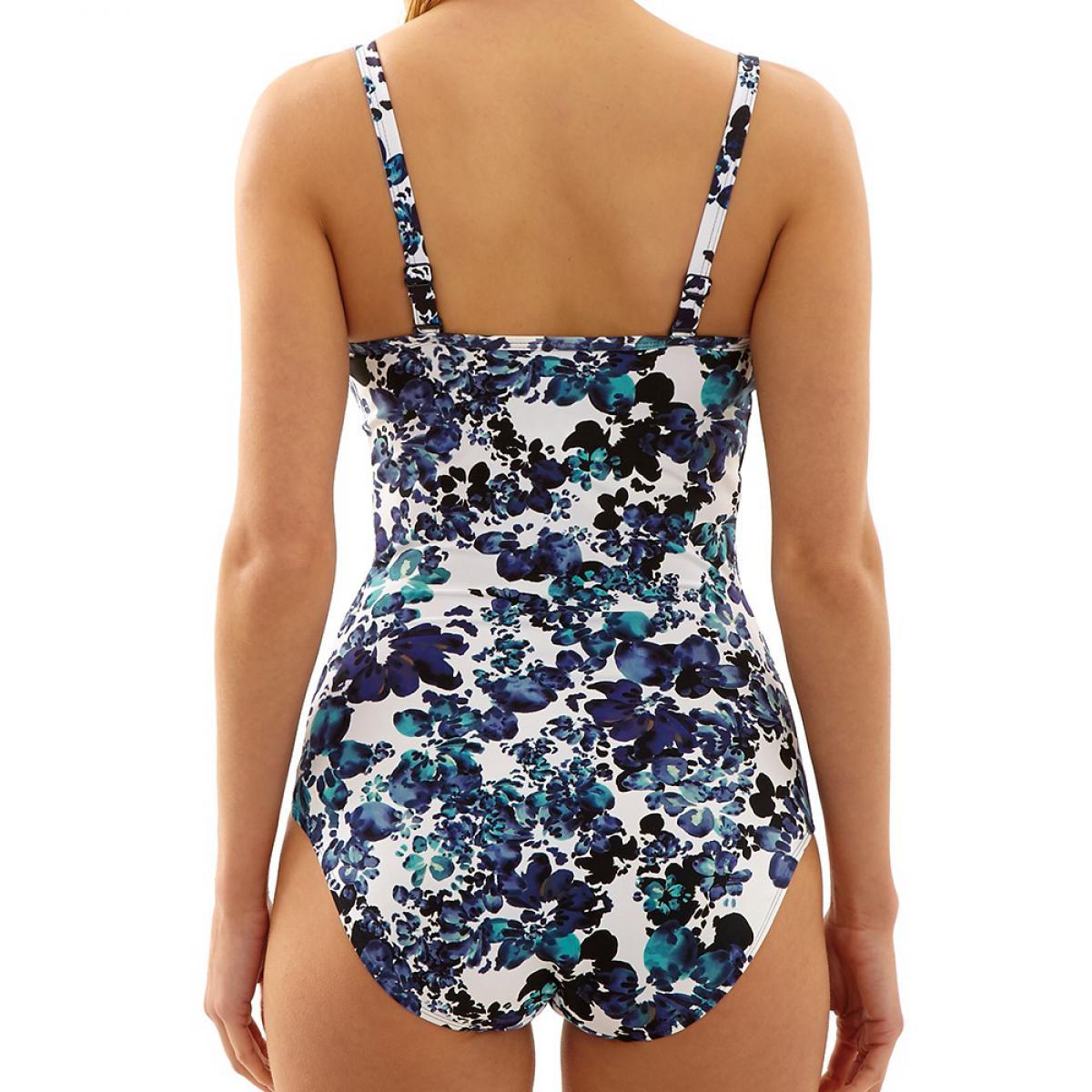 maillot de bain 1 piece bandeau moule florentine floral. Black Bedroom Furniture Sets. Home Design Ideas