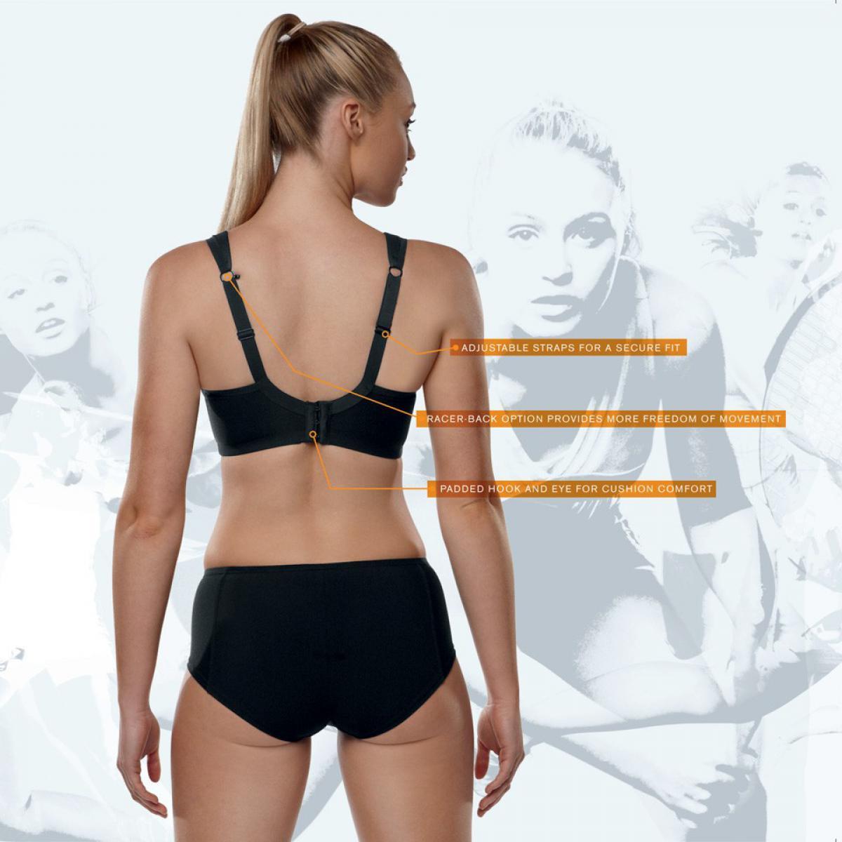soutien gorge sport sports bra noir par panache lemon curve. Black Bedroom Furniture Sets. Home Design Ideas