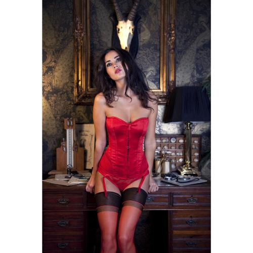 Playful Promises Corset Rouge