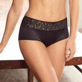 Shorty gris/noir Playtex - Shorty et boxers - Lingerie Playtex