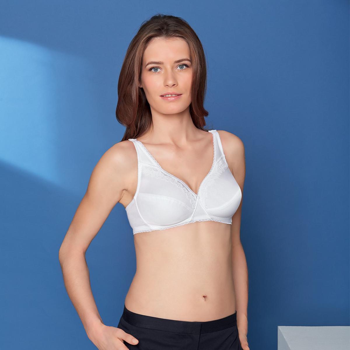 soutien gorge sans armatures coeur croise feminin coton blanc playtex. Black Bedroom Furniture Sets. Home Design Ideas