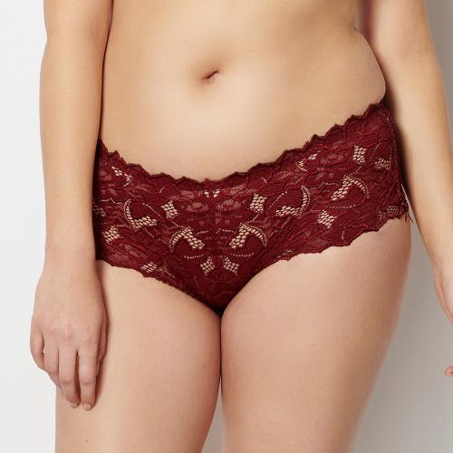 Culotte taille haute rouge