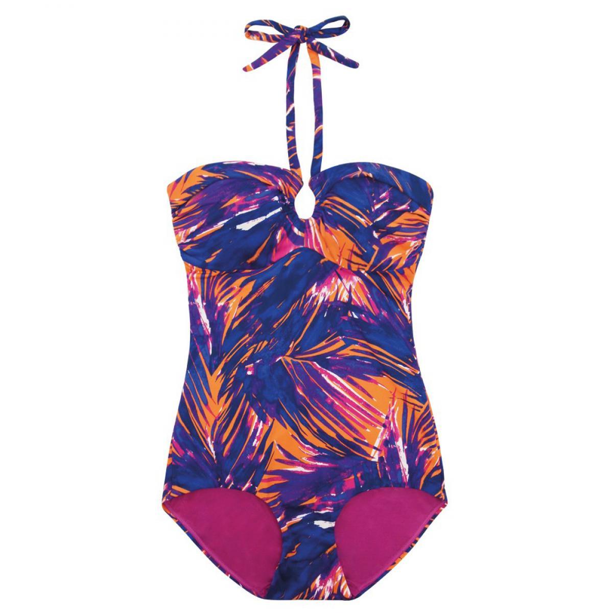 maillot de bain une pi ce gainant fever tropical palm par scandale bain. Black Bedroom Furniture Sets. Home Design Ideas