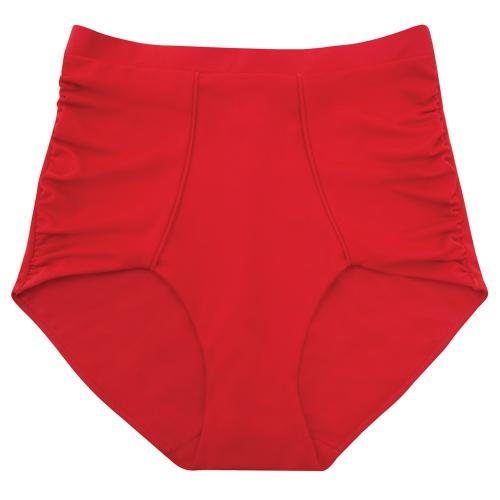 Scandale Maillot Bas Style Rétro Rouge