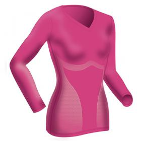 T-Shirt Manches Longues Rose Shock Absorber - Sport - Lingerie Shock Absorber