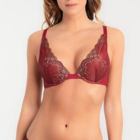 Soutien-gorge triangle push-up rouge - Soutiens-gorge push-up