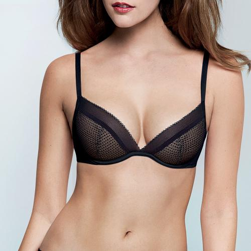 Soutien-Gorge Corbeille Natural Push-Up Noir