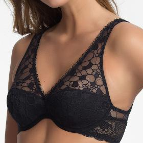 Soutien-gorge foulard noir Wonderbra - Push-up - Lingerie Wonderbra