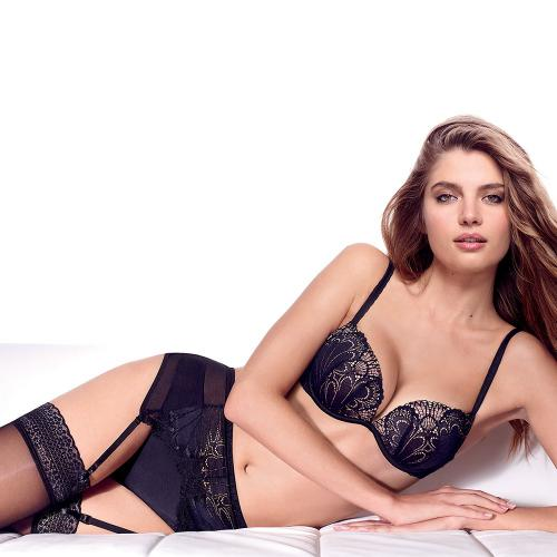 Soutien-Gorge Push-Up Full Effect Noir Glamour Raffiné