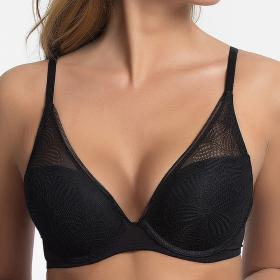 Soutien-gorge triangle push-up noir Wonderbra - Push-up - Lingerie Wonderbra